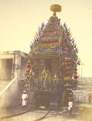Juggernauth Car, [Madras], (decorated for festive procession)